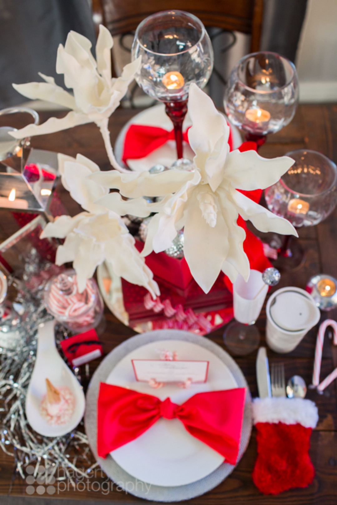 Candy Cane Christmas Tablescape Idea Parties 365