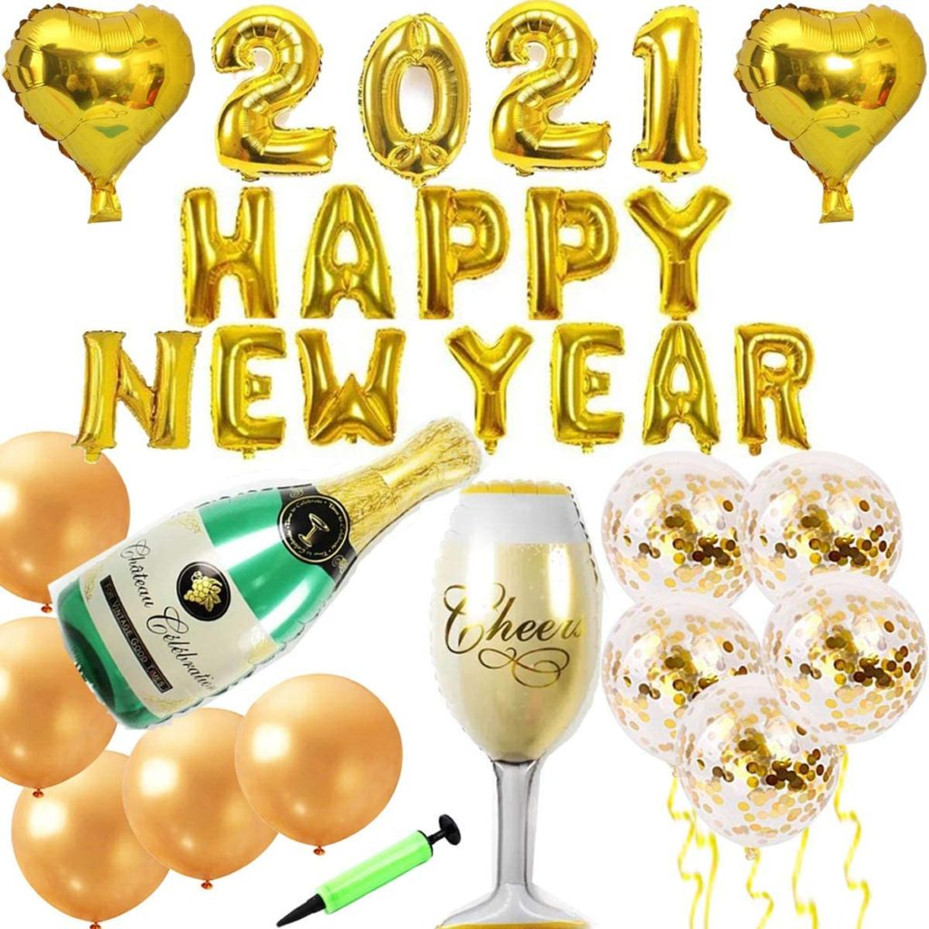 2021 new year balloon party pack