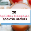 Champagne cocktails are a great signature drink for any party, especially New Years, Christmas or a holiday party. Here are 20 easy Sparkling Wine or Champagne Cocktail recipes that will give you ideas for the perfect simple holiday party or brunch drink! #champagne #holidaydrink #cocktails #parties365