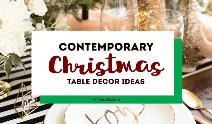 Contemporary Christmas Table Decor
