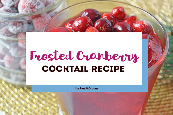 We have an easy Christmas drink recipe for you! This Frosted Cranberry Cocktail with vodka is the perfect winter and holiday signature drink! Click for the full recipe. #cocktailrecipe #cranberries #holidaydrink