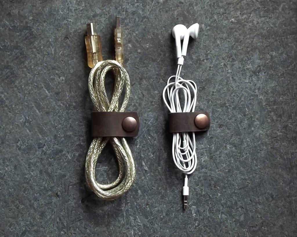 leather cord organizer gift idea