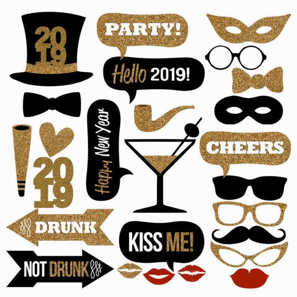Looking for decorations, ideas and party supplies for a New Year's Eve or New Year's Day party? We have the best tableware, balloons, photo props and more! #newyears #2019 #newyearseve #partysupplies