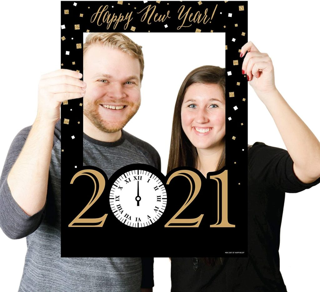 New Year's eve party photo frame