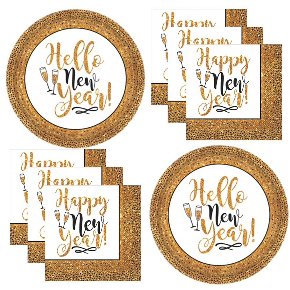 Looking for decorations, ideas and party supplies for a New Year's Eve or New Year's Day party? We have the best tableware, balloons, photo props and more! #newyears #2020 #newyearseve #partysupplies