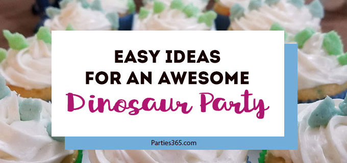 Looking for ideas for an awesome Dinosaur Birthday Party for boys? This DIY party is full of easy decorations, games, favors, food, invitations and printables to make your dino party a success! #dinosaur #printables #birthday #partyideas