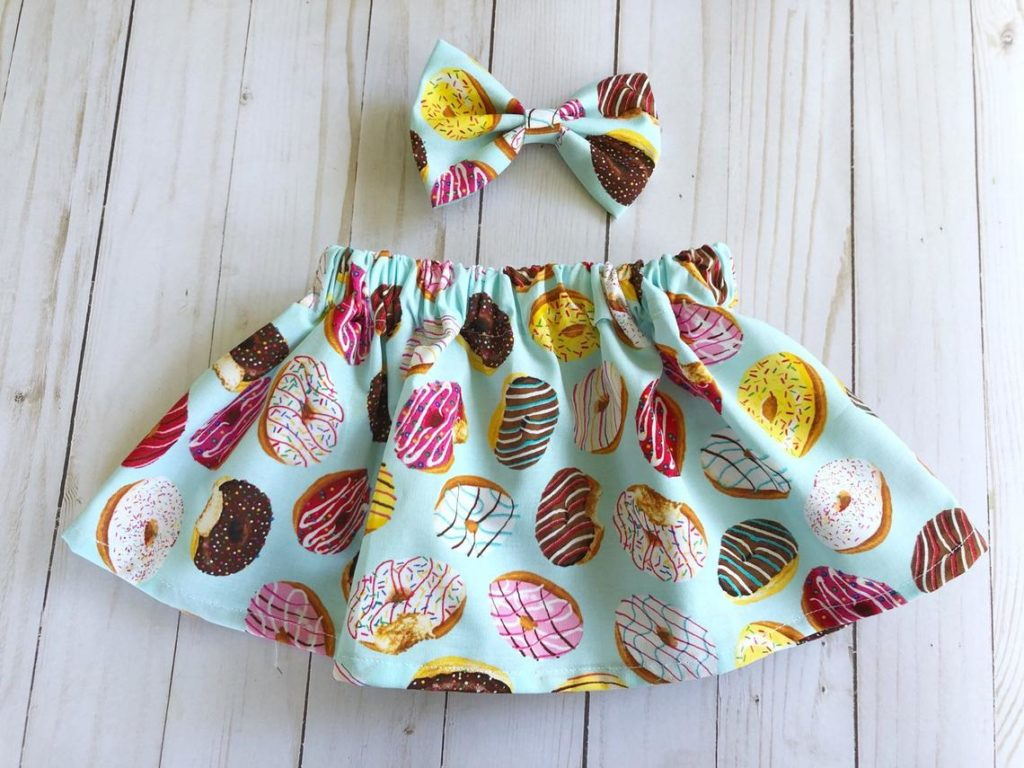 donut skirt and bow