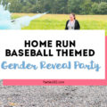 Want a fun and creative gender reveal theme for your party? How about a Diamonds (baseball) or Diamonds (jewel) party? This Home Run gender reveal with exploding baseball is a unique way to share your big news! #genderreveal #babyshower #partysupplies #baseball