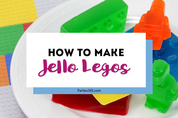 Want a fun treat for your lego themed birthday party? Let us show you how to make colorful Jello Lego blocks and figurines with this easy recipe and mold! #legos #legoparty #legofood #birthday #partyfood