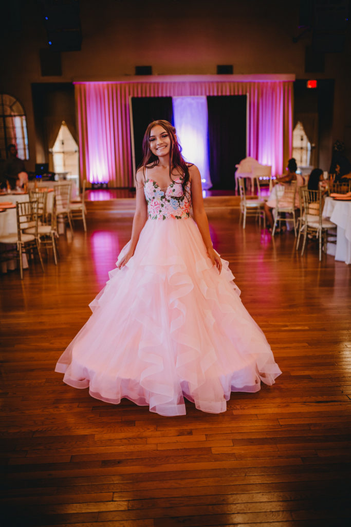 Planning an upcoming Quinceanera? Calla's beautiful Quinceanera celebration, steeped in tradition, will give you ideas for dresses, decorations, the cake, a theme and more! #quinceanera #15thbirthday #partyideas #birthday