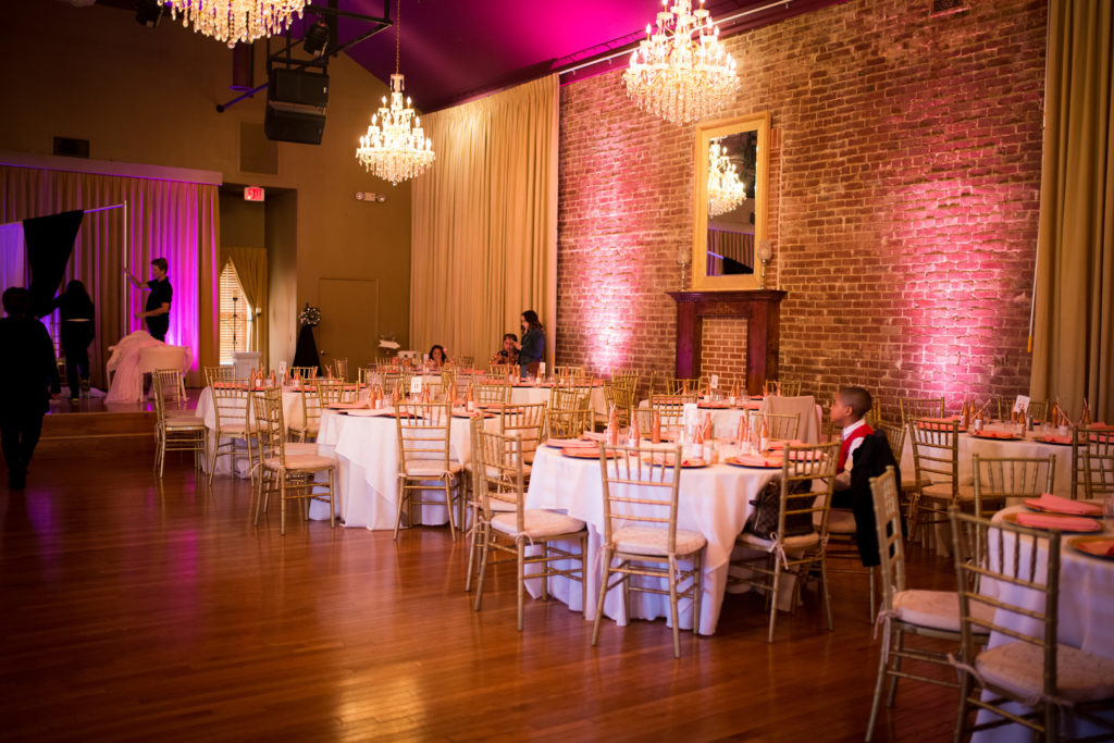 Quinceanera party tables