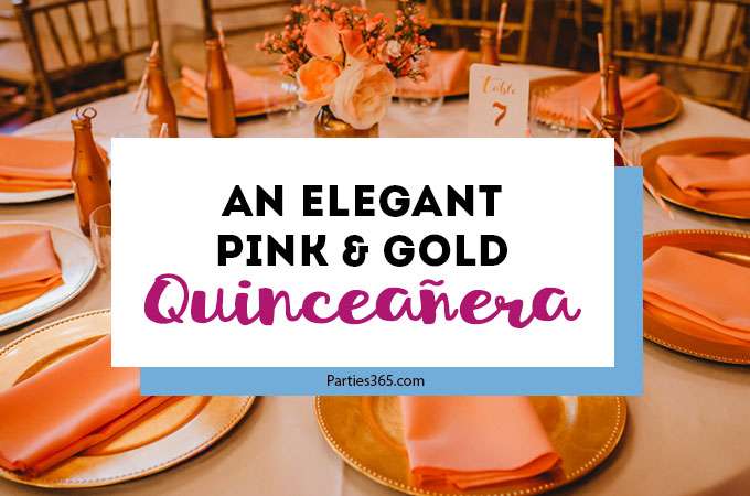 Planning an upcoming Quinceanera? Calla's beautiful Quinceanera celebration, steeped in tradition, will give you ideas for dresses, decorations the cake, a theme and more! #quinceanera #15thbirthday #partyideas #birthday