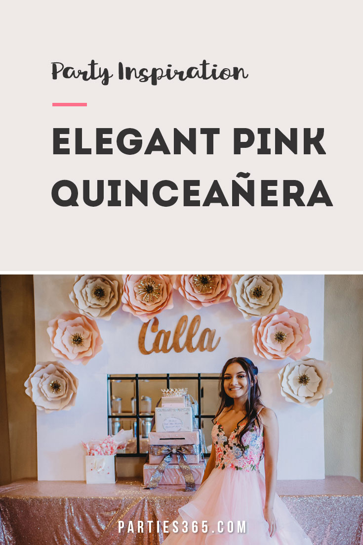 elegant pink Quinceanera party ideas