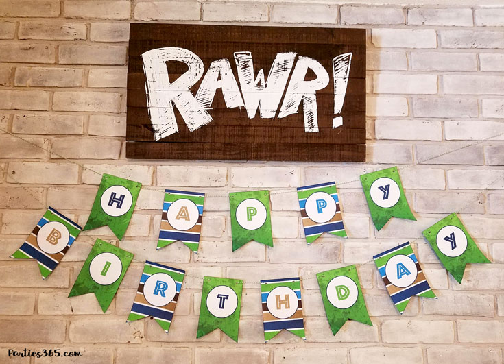 Dinosaur Birthday Party Ideas Printables Parties 365