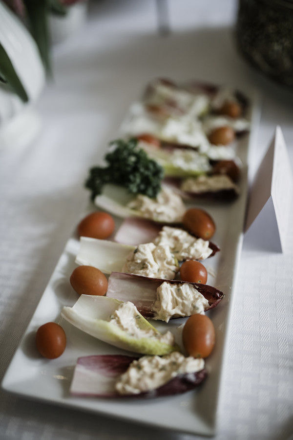 endive on tray at tea party