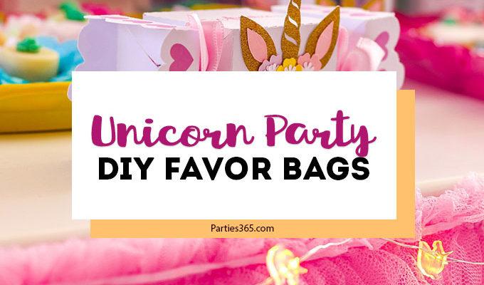 DIY Unicorn Party Favor Bags