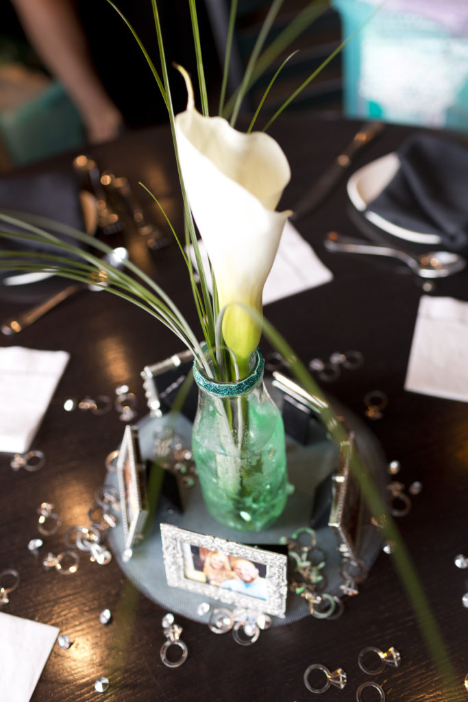 calla lily centerpiece at bridal shower