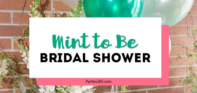 "Planning a bridal shower and looking for ideas for fun, yet simple themes? How about an elegant ""Mint to Be"" theme in beautiful greens?! Perfect for spring or summer, check out these pictures for decorations, games, favors, table ideas and more! #bridalshower #mint #bridalshowertheme"
