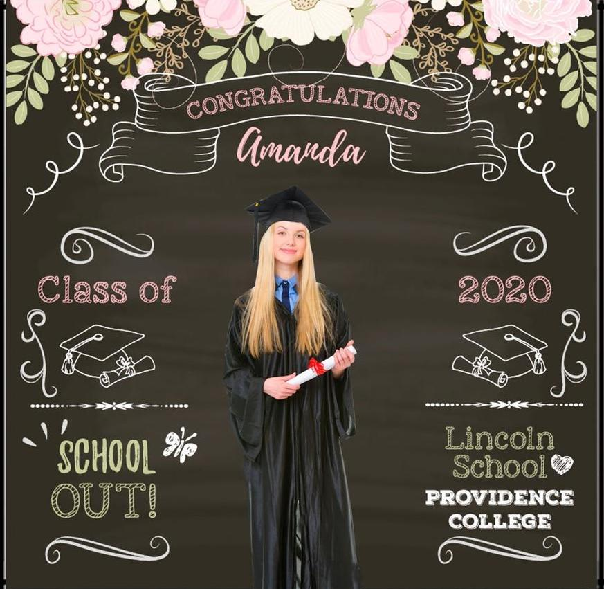 graduation photo backdrop
