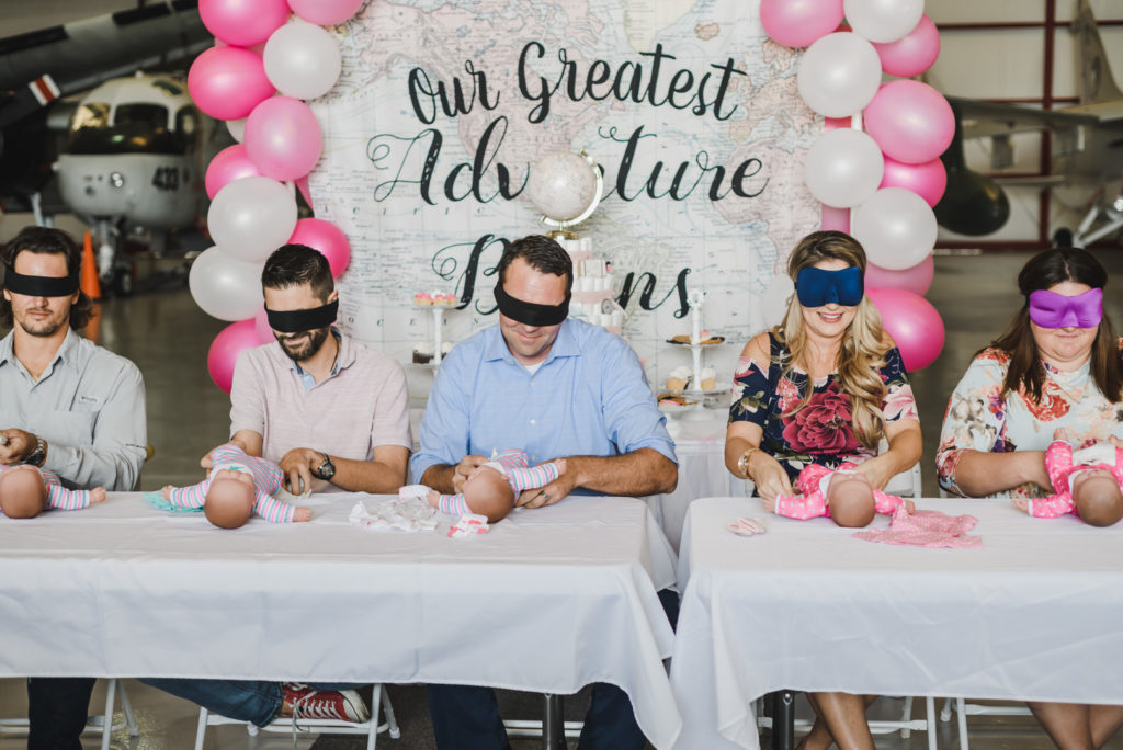 baby shower games with blindfolds
