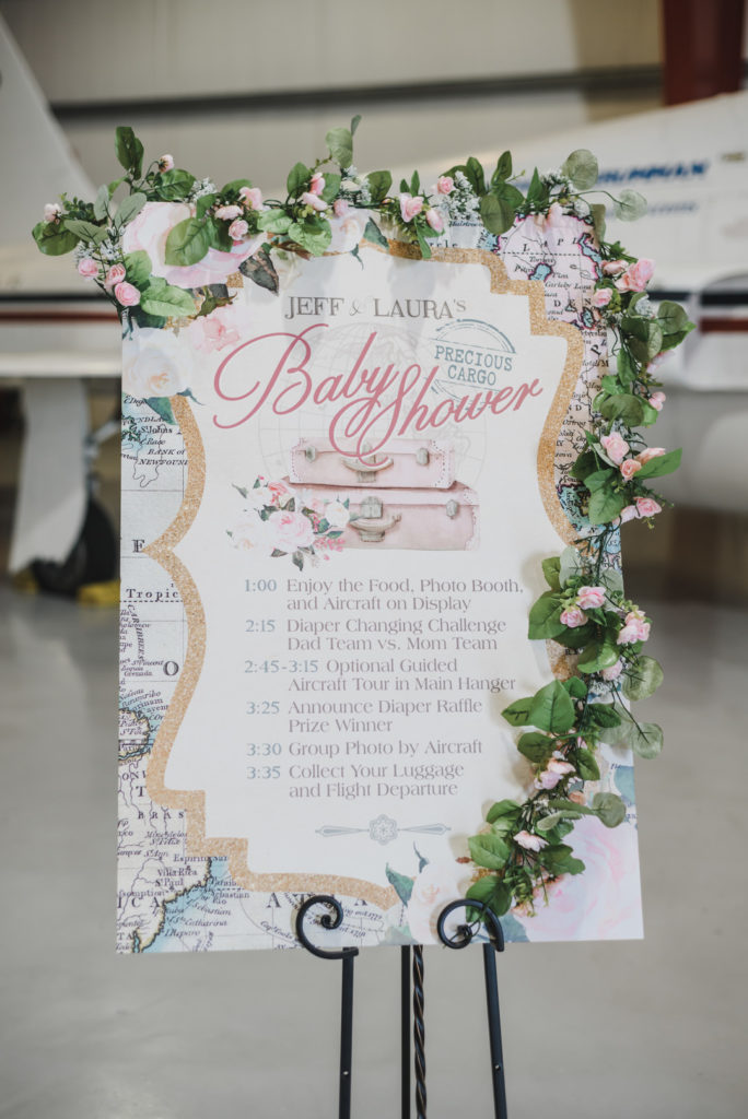 travel themed baby shower welcome sign