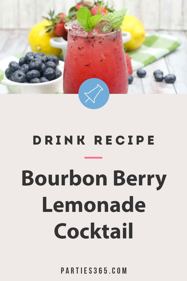 bourbon berry lemonade cocktail recipe