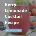 bourbon berry lemonade cocktail recipe