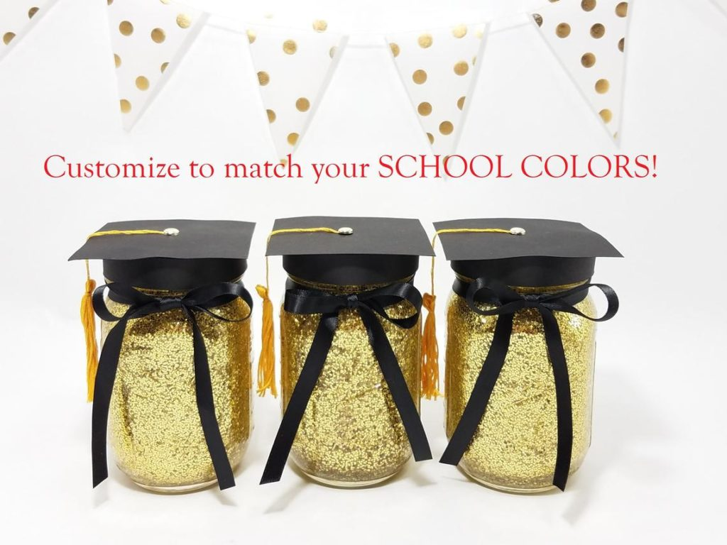 graduation mason jar party decor