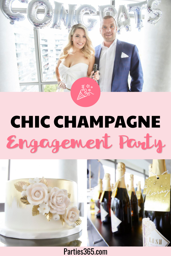 chic champagne engagement party ideas
