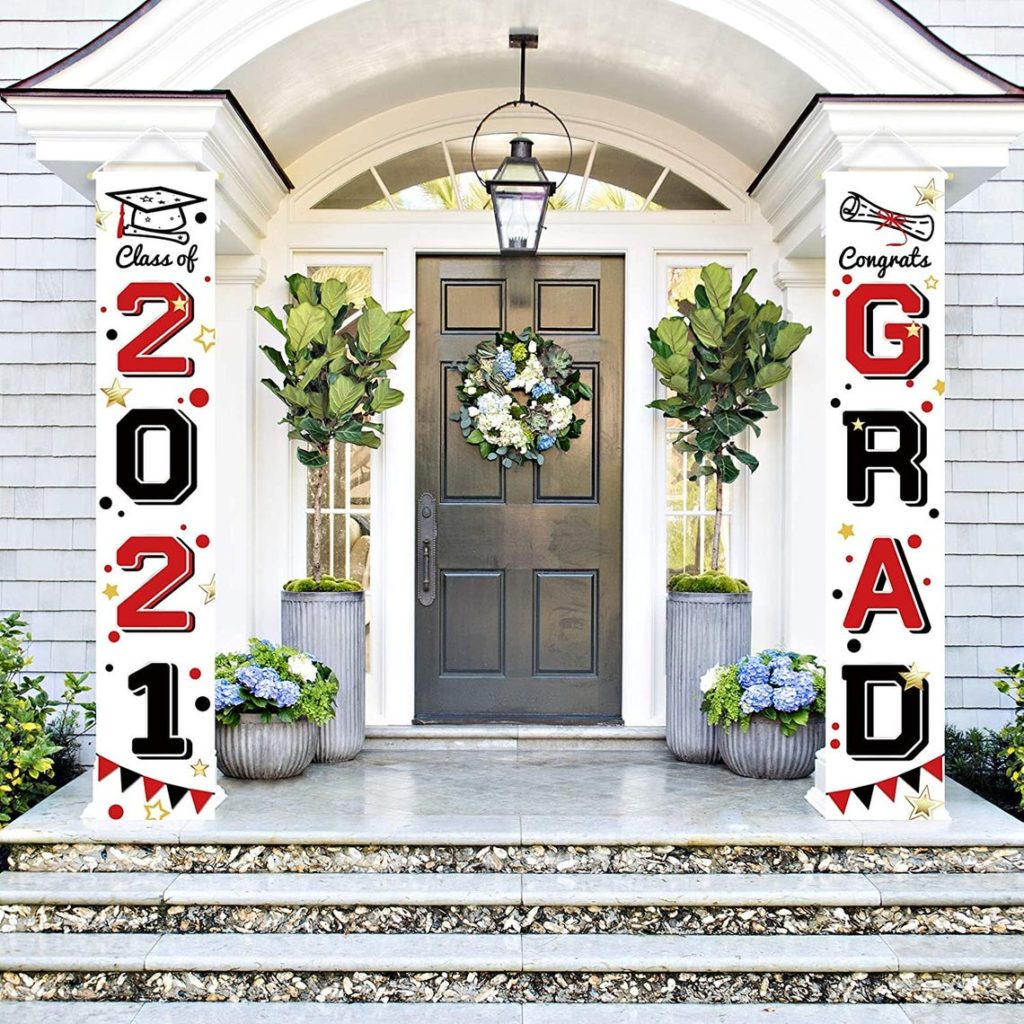 front porch graduation banner