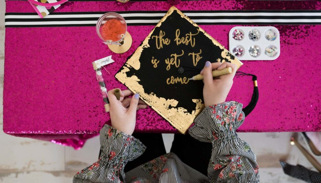 Here are 12 ideas for Graduation Party Decorations! Whether your graduate is wrapping up high school or college we have fun themes, DIY party supplies, centerpieces and great ideas for girls or boys to celebrate their big accomplishment! #graduationparty #graduation #partyideas #partysupplies