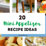 Mini appetizers are an easy way to feed a crowd of kids or adults at your next party! We have 20 bite size recipe ideas for chicken, vegetarian, sweet, or manly finger foods! #appetizers #bites #partyfood