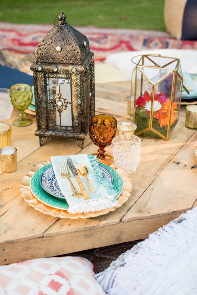 Moroccan themed table setting