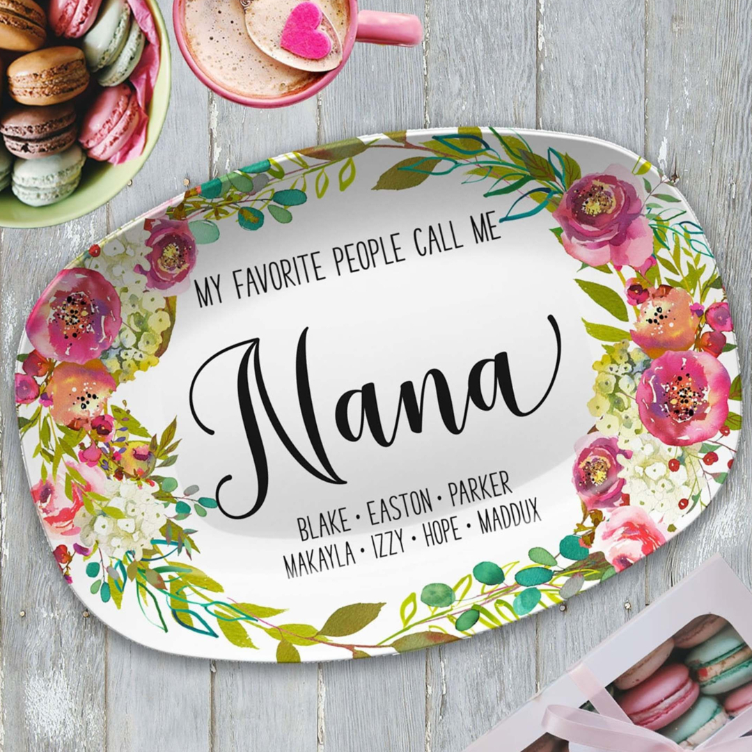personalized mother's day platter gift