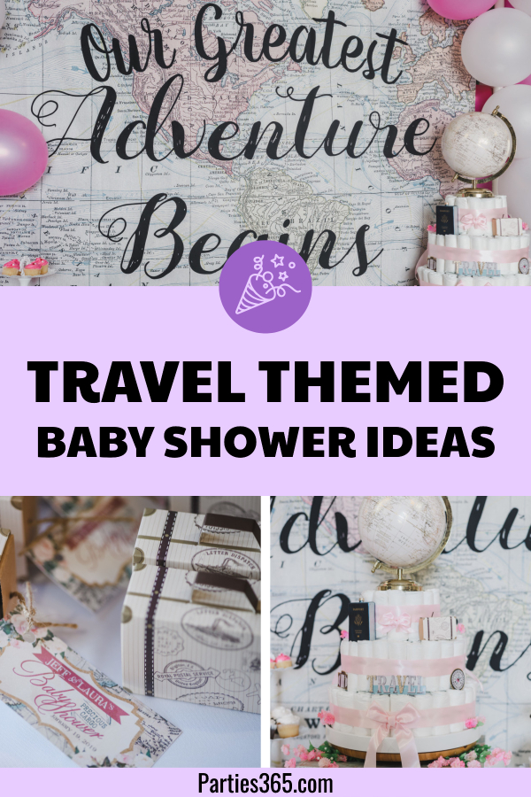 travel themed baby shower ideas