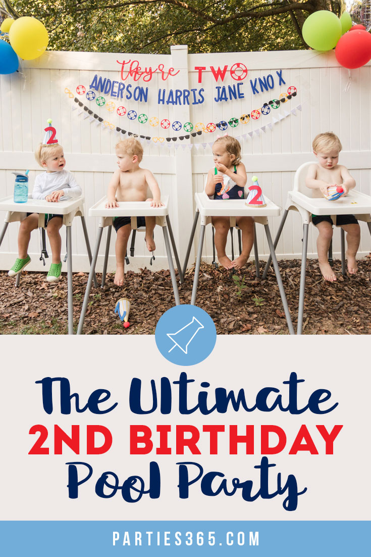 the ultimate 2nd birthday pool party