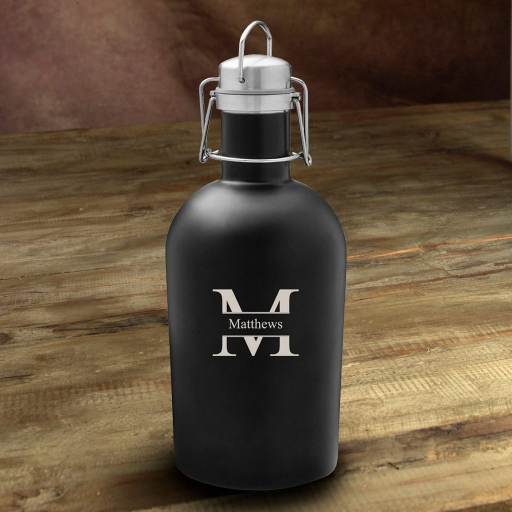 black matte beer growler