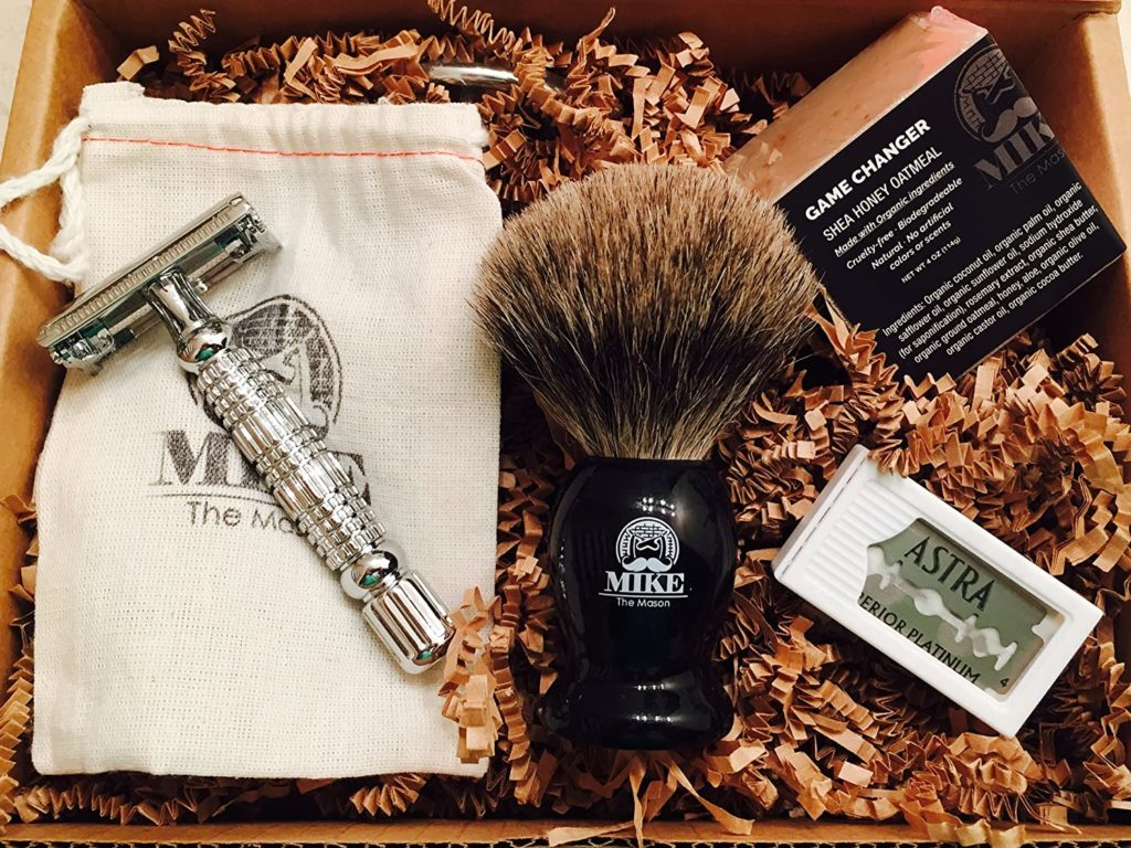 wet shave gift box for him