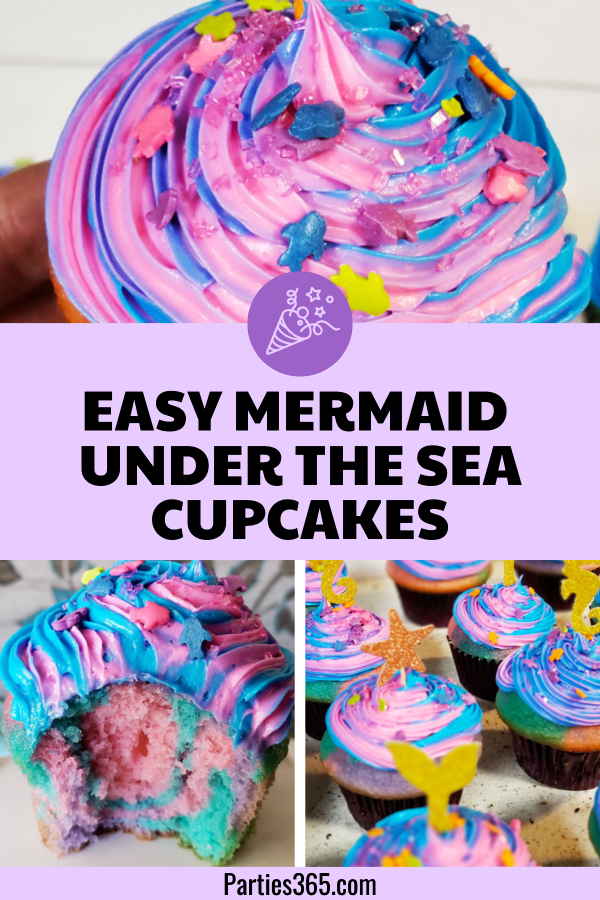easy mermaid under the sea cupcake recipe
