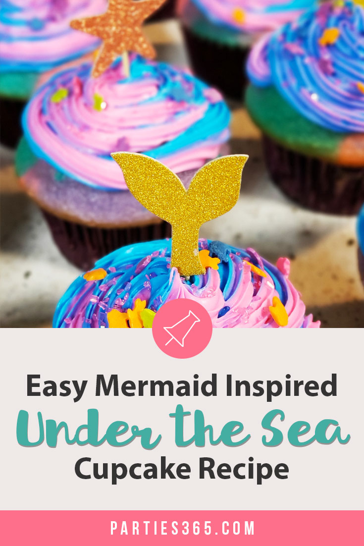 easy mermaid inspired under the sea cupcake recipe