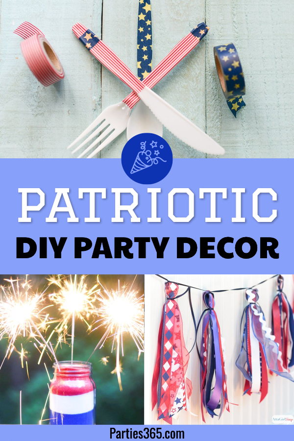 patriotic DIY party decor