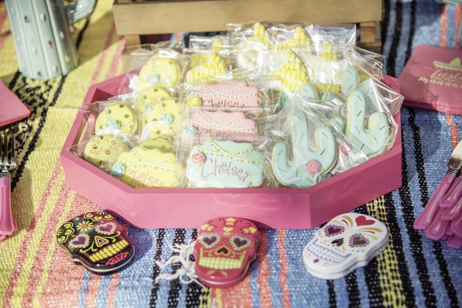 bridal shower fiesta custom cookies