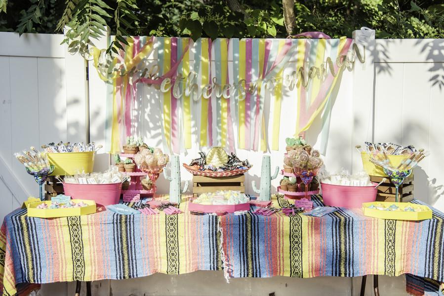 bridal shower fiesta dessert table