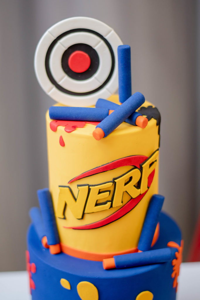 Fabulous Amazing Ideas For A Nerf Gun Boys Birthday Party Parties365 Personalised Birthday Cards Veneteletsinfo