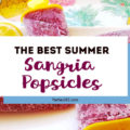 Want a fun boozy summer popsicle for the adults at your party? These Sangria Popsicles are the bomb! Red wine, fresh berries and bourbon combine into the perfect frozen cocktail recipe for mom! #sangria #popsicles #boozypopsicles #sangriarecipe #icepops