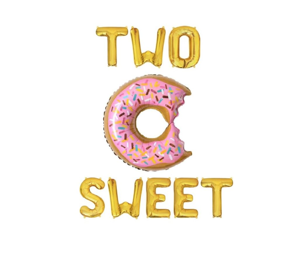two sweet balloons with donut balloon