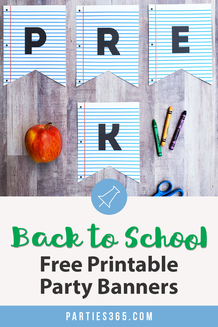 back to school free printable banners