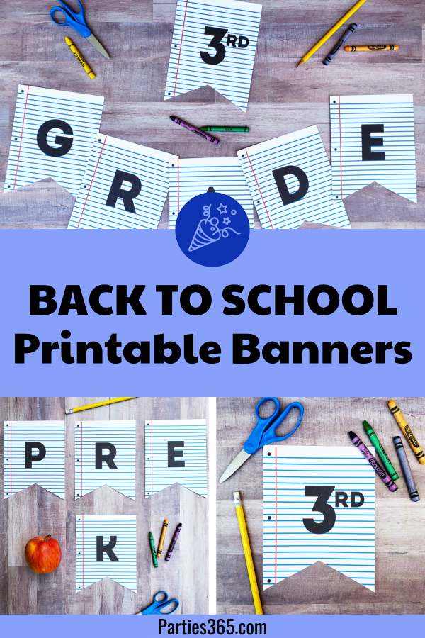 back to school printable banners