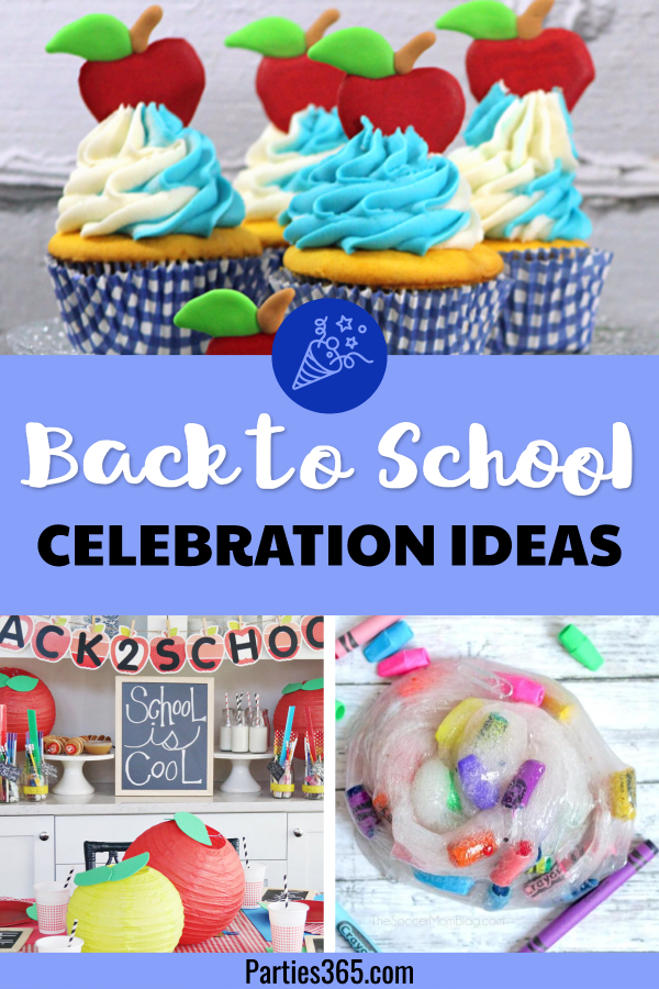 Are you looking for fun and simple ways to throw a party or a Back to School Celebration this fall? Have some fun with your kids with one of our ideas for a special treat, craft, party or start a new tradition! Check out all the ideas here! #backtoschool #partyideas #backtoschooltreats #traditions