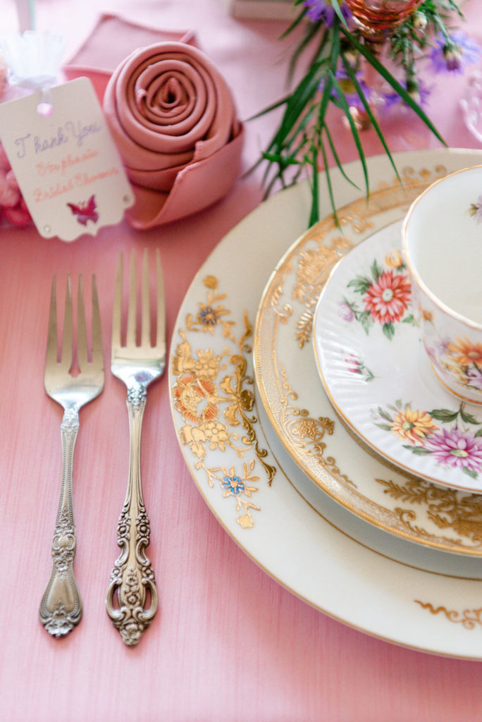 An elegant Tea Party is a lovely theme for a bridal shower! This Butterfly Garden themed shower is full of perfectly whimsical ideas for decorations, favors, centerpieces, food and cake! Check out all the gorgeous details! #bridalshower #teaparty #butterflyparty #gardenparty
